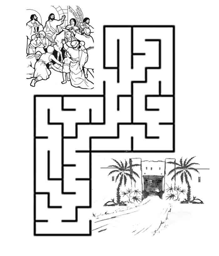 Click to print out the page so you can color and find the way to Jerusalem