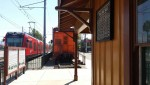 La Mesa Train Station & Museum w-Trolley passing